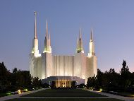 Washington D.C._Temple_At_Dusk