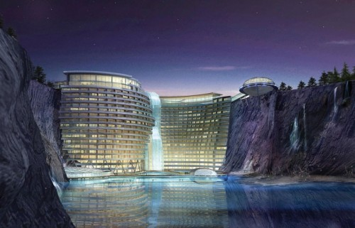 HOTEL IN A QUARRY NEXT YEAR